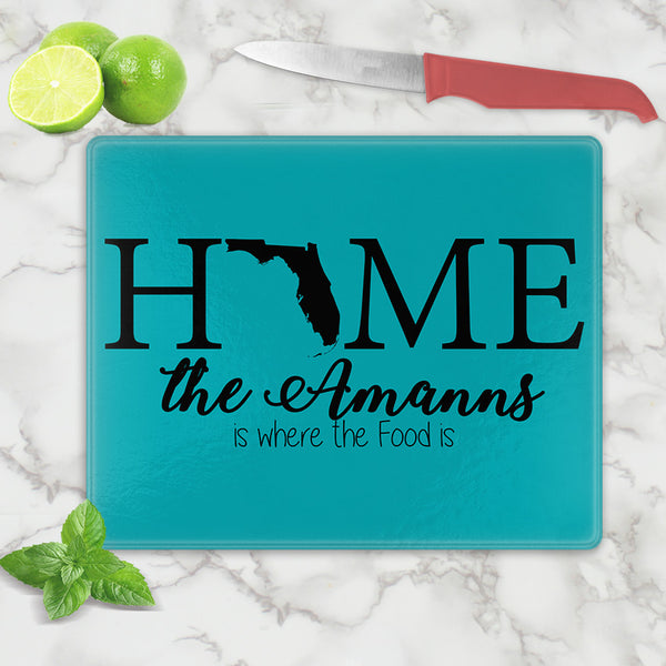 Home State Cutting Board Personalized with any name
