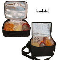 inside view of lunchboxes showing thermal insulation (and food to give visual)
