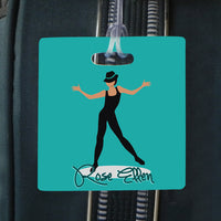 jazz dancer square bag tag