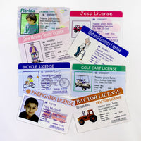 Kids Play Fake Drivers Licenses -Wallet ID and Adult Joke License