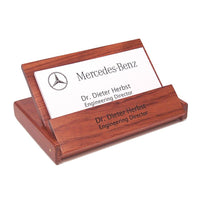 Business Card Holders Personalized Rosewood Engraved Folding Desk Card Holder