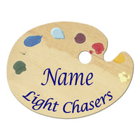 Light Chasers Art Palette Name Tag as requested by