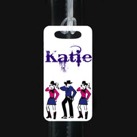 line dance id tag perfect for garment or shoe bags