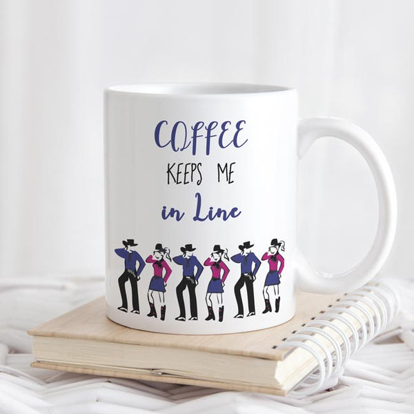 Line Dancers Coffee Mug - Custom Country Line Dance Cups