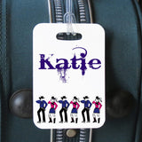 line dancer personalized luggage tag
