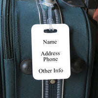 side 2 of bag tag with your contact info.