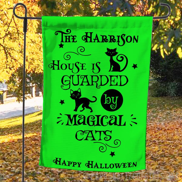 Magical Cats Personalized Yard Flag