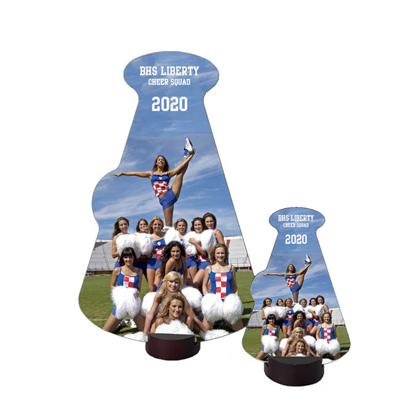 Megaphone Desk Awards with base Tall Orientation with your photo and custom text