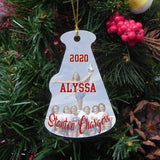 Megaphone Shaped Cheerleaders Photo Ornament for Christmas