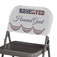 Personalized Reserved Seat Back Cover with Flag filled Reserved and custom text