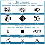 Monogram font choices for your leather clipboard