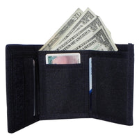 inside wallet view with cash and slots for license and credit cards