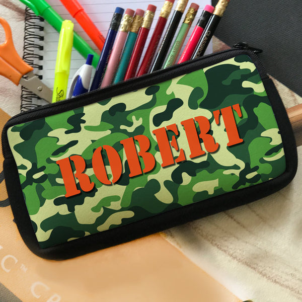 Camouflage Pencil Case personalized with any name