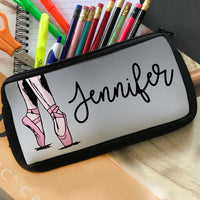 Ballet Theme Pencil Cases with zipper closure Personalized with your name.