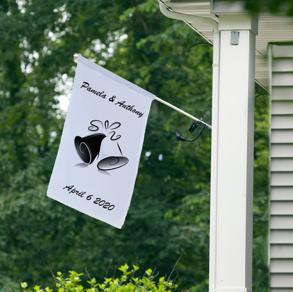 Simply Bells Wedding Announcement House Flag