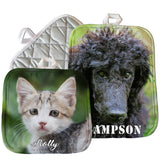 Both 8x8 and 7x9 pot holders shown together with pet pictures