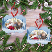 Ornament Winter Tree Scape Christmas Ornament With Your Photo