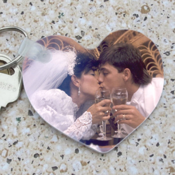 Personalized Heart Key Ring with photo