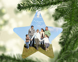 Star ornament showing family of 6 positioned close together