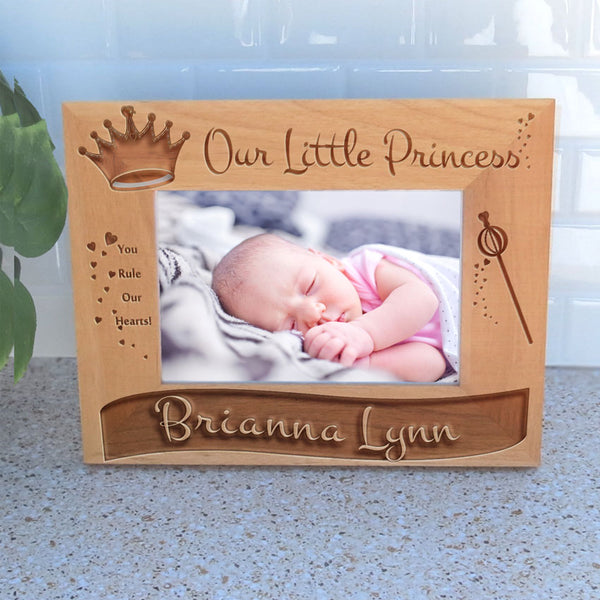 Mock up of engraved wide princess frame