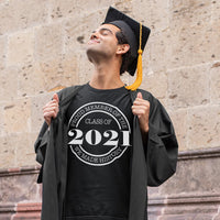 Class of 2021 made history tee shirt black with white design