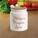 Personalized side of corked canister jar