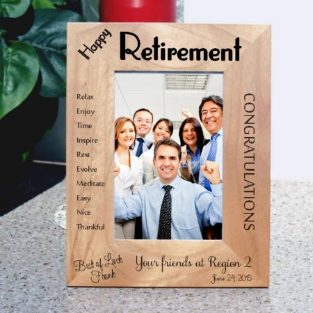 Happy Retirement Picture Frame for Tall Photos