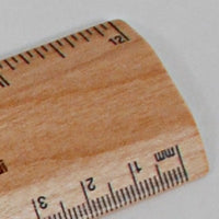 zoom of mm and inch on ruler