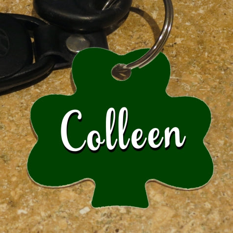 Lucky Shamrock Personalized Key Ring With Any Name