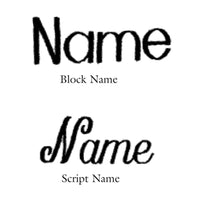 font style  Block or Script  Script is upper/lower only  block can be done in all caps