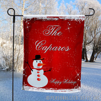 Snowman Personalized Christmas or Winter Yard Flags