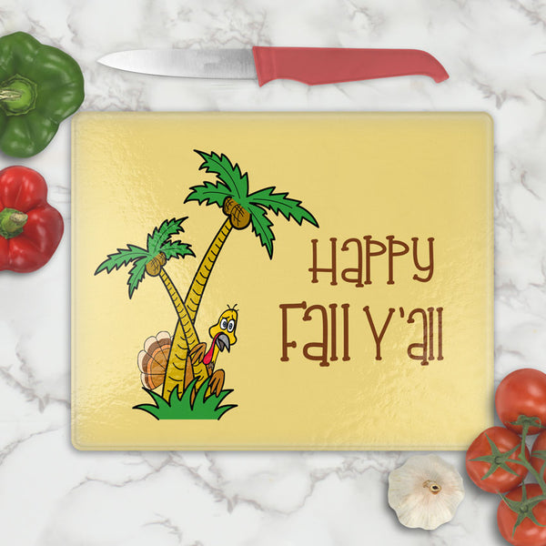 Southern Turkey Funny Thanksgiving Cutting Board Personalized with any name