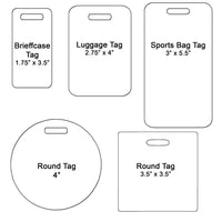 standard sized bag tags