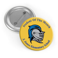 Student of the Month Buttons - School Incentive Buttons