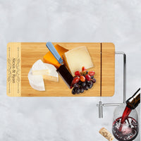 Cheese board with personalization on the side 2tone panel