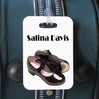 tap dance luggage tag