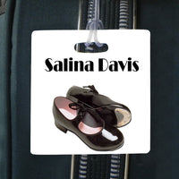 tap dance 3.5 inch square bag tag