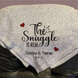 "The Snuggle is Real Personalized Throw Blanket 50"" x 60"" Sweater Knit"