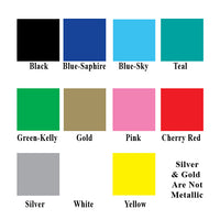 Vinyl Colors Applique Colors
