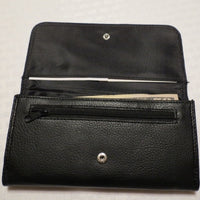 Wallet  Inside showing zipper change pouch and cash slot