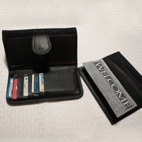 Snap wallets come with a removable check book holder