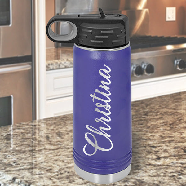 Your Name Hydration Flask Bottle Personalized 32 ounce Water Bottle