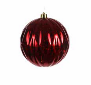 Large LED Christmas Bauble Red