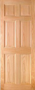 Indoors Hartford Pre-Fin Oak 6-Panel Engd Door 80X32