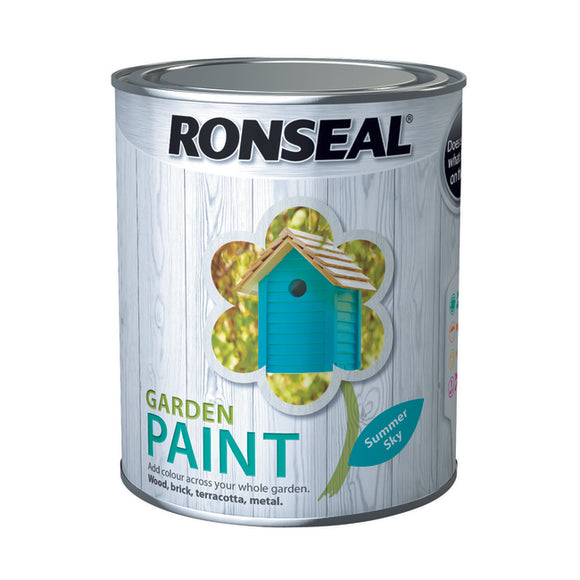 Ronseal Garden Paint 750ml Summer Sky
