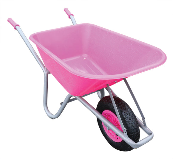 100ltr.  Pink  PVC Garden Wheelbarrow Assembled