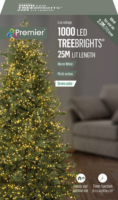 1000 M-A Led TreeBrights Timr White