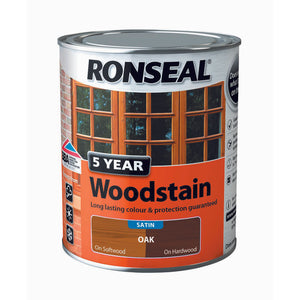 5 Year Woodstain 750ml Oak
