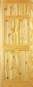 Indoors Berkley Pine Door 78X24X42Mm 6 Panel