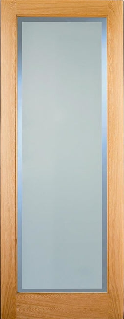 Indoors Rushmore Oak Etchglass Clear Border P/Fin 78X30